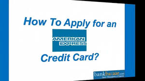 how to apply for an american express credit card youtube