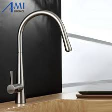 pull out kitchen faucet brushed nickel basin sink mixer tap swivel