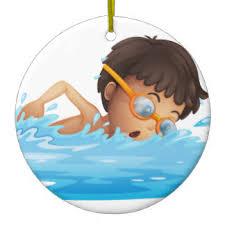 boys swimming ornaments keepsake ornaments zazzle