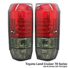 amazon com 1 pair rear crystal red u0026 smoke led tail light lamp