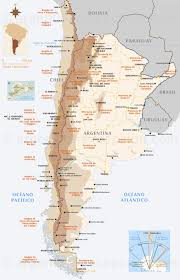 Popular Map of Argentina and Chile &DW36
