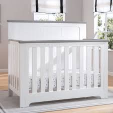 Grey Convertible Cribs Delta Children Providence 4 In 1 Convertible Crib White And