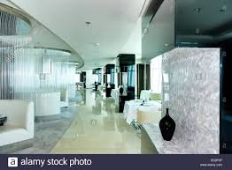 the restaurant u0027s interior of modern luxury hotel dubai uae stock