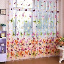 Vertical Blinds Room Divider Vogue Colorful Butterfly Print Window Curtain Vertical Blinds Room