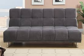 grey fabric twin size sofa bed steal a sofa furniture outlet los