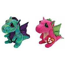 amazon ty cinder darla dragon 2 beanie boos