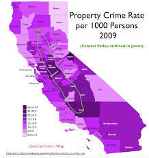 Sf Crime Map Surprising Patterns In Geography Of Crime In California Geocurrents