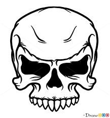 how to draw angry skull skulls
