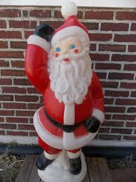 outdoor plastic lighted santa claus large 40 blow mold santa waving christmas blow mold general