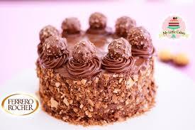 ferrero rocher chocolate cake my little cakes youtube