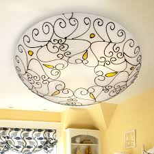 flush mount ceiling lights with white glass shade