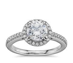 platinum halo engagement rings 1 carat preset classic halo engagement ring in platinum