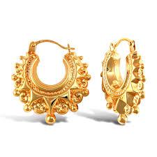 creole earrings 9ct yellow gold spike hoop creole earrings