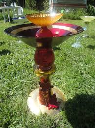 Vases And Bowls This Is A Birdbath I Made From Reclaimed Glass Vases Plates