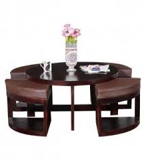 Sofa Table With Stools Coffee Table With Stools Underneath Foter