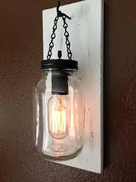 Edison Bulb Wall Sconce Mason Jar Wall Sconce With Regard To Desire Earthgrow