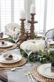 neutral thanksgiving table decor thanksgiving table