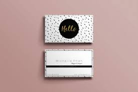 business card template black and white ink dot modern