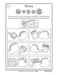 1st grade 2nd grade math worksheets coin purse greatschools