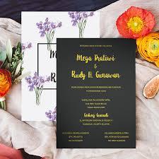 membuat video wedding invitation elegant botanical wedding invitation undangan pernikahan yang