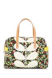 bloom bags orla kiely flower bloom canvas handbag nordstrom rack