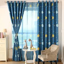 teal blue curtains bedrooms new arrival cartoon children curtain living room windows bedroom