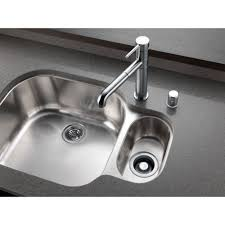 Single Lever Pull Out Kitchen Faucet by Delta Trinsic Arctic Stainless Finish Single Handle Pull Out