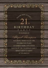 fancy invitations fancy wood 21st birthday invitations rustic country invitation