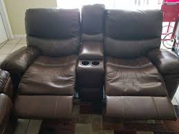 vercelli reclining loveseat with center console furniture in