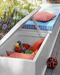 Diy Outdoor Storage Bench Plans by Best 25 Deck Storage Bench Ideas On Pinterest Garden Storage