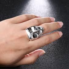 steel finger rings images Punk men mask design v for vendetta rings stainless steel wide jpg
