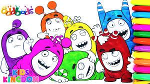 oddbods coloring book episode learn colors zee pogo slick fuse