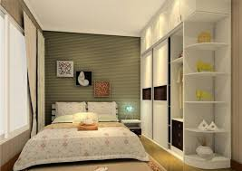 grey wall decoration in small bedroom design ideas with floral