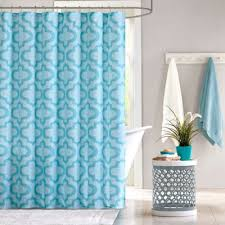 Aqua Blue Shower Curtains Buy Aqua Shower Curtains From Bed Bath Beyond