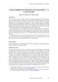 master design management collaborative design management a study pdf