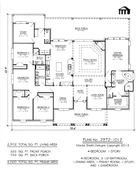 1 story house plans with basement plan no 2972 1012