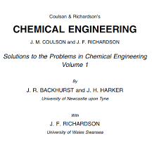 Coulson And Richardson Volume 1 Pdf Books Of Chemistry Archives Web Education