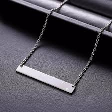 personalized bar pendant necklace new personalized bar pendant necklace stainless steel custom name