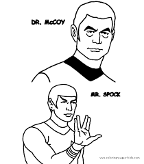 star trek color coloring pages kids cartoon