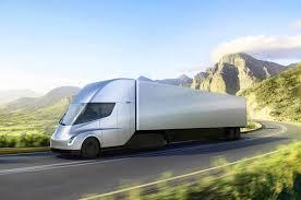 luxury semi trucks tesla electric semi truck revealed motor trend