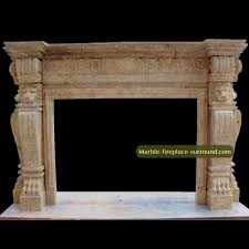 custom designed marble fireplace mantels with statues of leopard