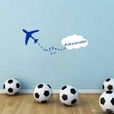 personalized custom any kids name wall sticker creative airplane