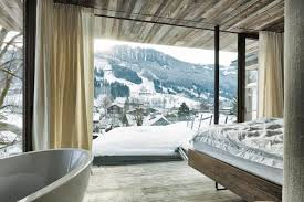 country house austrian chalet with amazing interior made of