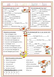 am is are has have worksheet free esl printable worksheets