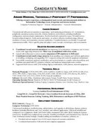 it resumes samples information technology it resume sample