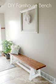 Wooden Bench Plans To Build by Diy Project Farmhouse Bench The Home Depot Farmhouse Bench