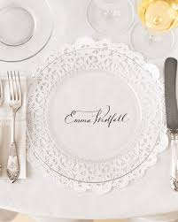 diy wedding place cards diy wedding place cards menus doily charger me ta