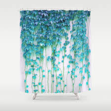 Blue And Green Shower Curtains Digital Shower Curtains Society6