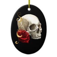 pink skull ornaments keepsake ornaments zazzle