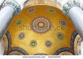 Ottoman Emperors Tugra On Mosaics Sign Ottoman Emperors Stock Photo 232340839